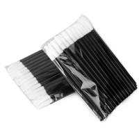 Wholesale lip gloss brush applicator online - x Disposable Lip Brush Gloss Wands Applicator Makeup brush Cosmetic Tool High quality