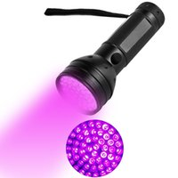 Wholesale nm light resale online - 51LED UV Light LED UV Flashlight UV Ultraviolet LED Flashlight Violet Black Light Torch nM Portable Flashlight LED Torch Light Outdoor