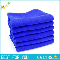 Wholesale Microfiber Cleaning Set - 10pcs set 30*70cm Blue Soft Towel Car Cleaning Microfiber Absorbent Towel Clean Wax Valeted Washing Cloth