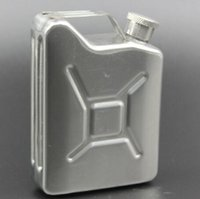 Wholesale Whisky Flask Silver - Hot 5oz Stainless Steel Jerry Can Hip Flask Liquor Whisky Pocket Bottle Whisky Wine Bottle CCA8462 50pcs