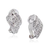 Wholesale screw piercing - clip earings for non pierced ears best bijoux earrings jewelry made with Austria crystal for women