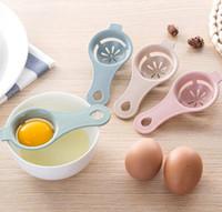 separadores de plastico al por mayor-13 * 6 cm Separador de Huevo de Plástico Yolk Blanco Sifting Home Kitchen Chef Dining Cooking Gadget