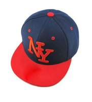 Wholesale flat hats for kids - [HEAD BEE] 2018 Children NY Letters Baseball Cap Snapbacks Hip Hop Cap Fashion Flat Hat for Kid Boys And Girls Casquette