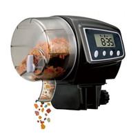 otomatik balık tankı besleyicileri toptan satış-Yeni Dijital LCD Otomatik Akvaryum Tank Gölet Zamanlayıcı Otomatik Balık Gıda Besleyici Besleme