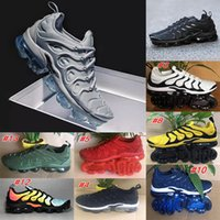 Wholesale camping packs online - Vapor NEW TN Plus Olive In Metallic White Silver Colorways Shoes Men Shoes For Running Male Shoe Pack Triple Black Mens Shoes
