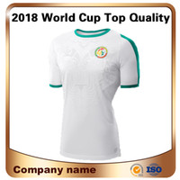 Wholesale team edition - 2018 Time-limited Men L World Cup Senegal Soccer Jersey Away National Team Short Sleeves Shirt Top Thai Edition Football Custom Uniforms