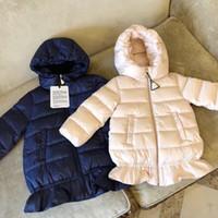 5080371d6fc77 ... marque 76-80% canard vers le bas long et épaissie hiver rose fille  manteaux d hiver manteau mode chaude 2 couleurs modèle mignon vêtements  pour enfants