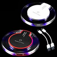iphone drahtlose ladegeräte großhandel-Crystal Fantasy Qi Wireless-Ladegerät für iPhone X 8 Plus Ladekissen Mini für Samsung S6 S7 Edge Plus S8