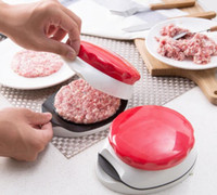 Wholesale innovative kitchen - Mini Kitchen Cooking Tools Red Hamburger Meat Press Burger Maker Barbecue Innovative Kitchenware Patties Plastic Make Tools DDA507