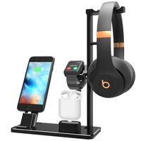 iphone aksesuar yuvası toptan satış-iWatch Standı AirPods Şarj Standı Alüminyum 4 in 1 Şarj Dock Aksesuarları Istasyon Tutucu için Apple İzle Serisi 2/1 AirPods iPhone 8 X