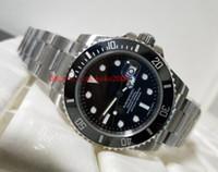 relojes de pulsera de línea secundaria al por mayor-Reloj de pulsera de alta calidad de lujo N Factory V5 SUB 116610 Cerámica Bisel Negro Dial Acero inoxidable Mecánico automático Relojes para hombre Relojes