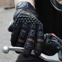 carrinho da raça da motocicleta venda por atacado-2018 Primavera New Holland Banda Luvas De Corrida de Moto STAND 3 Luvas da motocicleta Moto Equitação Luva de Couro 4 cores e 4 tamanhos