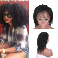 Wholesale human hair curly ombre wigs resale online - Virgin Human Hair Wigs Density Afro Kinky Curly Lace Front Wigs With Baby Hair For Black Women G EASY
