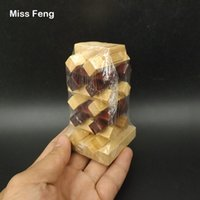kong ming puzzle al por mayor-Kong Ming Lock 9 cm Altura Pila de madera Puzzle Brian Mind Toys Juego de inteligencia Juguetes para niños