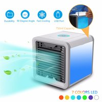 Wholesale usb portable device - Personal Air Cooler Air Personal Space Cooler Conditioner Quick & Easy Portable Device Home Office Desk USB Fan