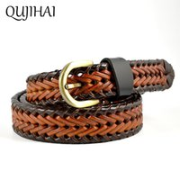 Wholesale handmade belts for dresses - QUJIHAI New Style Rope Braid Womens Belt Female For Dress High Quality Handmade Woven Belts Women Denim Skirts Casual Belts