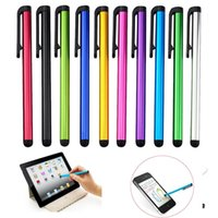 ingrosso penna stilografica per tablet-Schermo capacitivo penna stilo tocco della penna altamente sensibile per iPhone X 8 7 più 6 ipad bordo iTouch Samsung S8 S7 Phone Tablet PC mobile