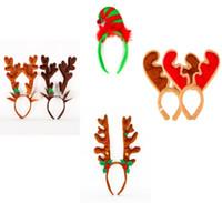 diademas de fiesta adultos al por mayor-Súper clásico lindo campanas diadema cuernos alces banda para el cabello fiesta de cumpleaños fiesta de cumpleaños de los niños adultos regalos de decoración de Navidad