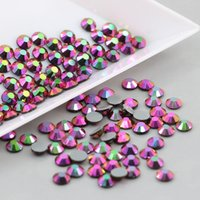 Wholesale Sew Rhinestones Patches - Rainbow Rose Color DIY Patch Strass Rhinestone Sew for T-shirt Hot Fix Glass for Ornaments Costumes