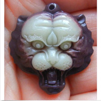Wholesale pendant carved rose for sale - Group buy Hand Carved Fashion Natural Jade Tiger head Necklace Pendant Lucky Amulet Hot