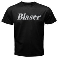 Wholesale shot sleeves online - Blaser hunt rifle R8 firearm shooting hunting R93 Tshirt Black Print T shirt Men Short Sleeve TOP TEE Fashion Summer Top Tee
