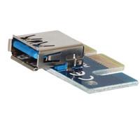 pci e express toptan satış-DHL / EMS / UPS / FEDEX ÜCRETSİZ GÖNDERİM! PCI-E EXPRESS 1X 16X Genişletici Yükseltici Kart Adaptörü USB 3.0 Mini Jack Kartı