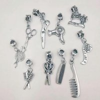 sewing machine necklace 2018 - Ancient silver Sewing Machine Hair Dryer Scissors Ruler Ball of yarn Comb Charm Pendant Necklace&Bracelet Jewelry Accessories A93