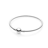 Wholesale 925 Sterling Silver Women Mnes Bangle with Logo Original box for Pandora Charms Beads DIY Bracelet