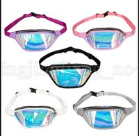Wholesale holographic bags - Holographic Fanny Pack Laser Waist Packs Fashion Street Style Waterproof Beach Pack Reflective Laser Waist Packs Sport Waist Bags KKA5332