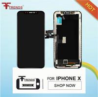 toque tft al por mayor-100% de prueba de reemplazo de alta calidad TFT LCD para pantalla iPhone X Display 3D de pantalla táctil Asamblea montaje de Color negro