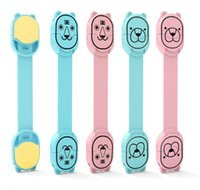 fechaduras para móveis venda por atacado-Proteção de Bloqueio para crianças de Crianças Portas de Bloqueio Dos Desenhos Animados Forma de Bloqueio de Móveis De Segurança De Plástico para Crianças Do Bebê