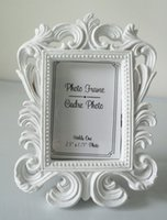 Wholesale Wedding Card Pictures - Baroque photo picture frame 10PCS LOT wedding party place name card holder favor Black & White Options