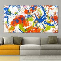 Wholesale pictures cartoon flowers for wall for sale - Group buy 1 Canvas Art Wall Pictures For Living Room Flowering Abstract Painting Home Decor Printed Frameless