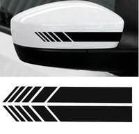 Wholesale rearview car mirror decal - 2 pcs car rearview mirror sticker vinyl stripe decal emblem CA-194
