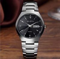 cintos de tungstênio venda por atacado-Mulheres Rhinestone Relógio de aço de tungstênio preto cinto de aço à prova d 'água casal estudante de moda relógio de quartzo Homens Relógio De Aço Completa