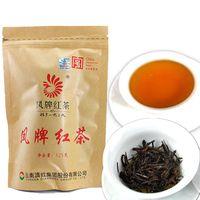 Wholesale chinese tea packaging resale online - 125g Chinese Organic Black Tea Phoenix Brand Red Tea New Cooked Tea Green Food Sealing strip packaging Preferred