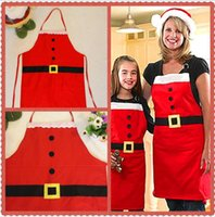 Wholesale sales apron for sale - Group buy 2 set Hot Sale Christmas decorations Christmas thin home apron Christmas day family party supplies