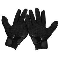 erkekler için motosiklet eldivenleri toptan satış-Dağ Bisikleti Motocross Sıcak Motosiklet Yarış Eldiven Rüzgar Geçirmez Nefes Örgü Kumaş Tam Parmak El Erkekler Kadınlar Korumak