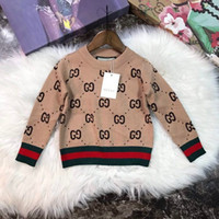 Hot selling 2018ins Autumn And Winter Sweater Pure Cotton Round Neck Sweater Children Rendering Kn2607