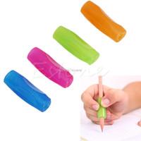 lápiz lápiz de goma al por mayor-Herramienta de la caligrafía de la práctica del apretón del lápiz de la pluma de goma Orthotics Topper