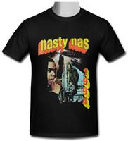 vintages t-shirt hip hop großhandel-Nasty Nas Vintage Retro Hip Hop schwarz T-Shirt Größe S bis 2XL Mens 2018 modische Marke 100% Baumwolle Printed Rundhals T-Shirts günstig