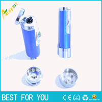 Wholesale smoke machine sale for sale - Group buy Hot sale New Lighter Grinding Machine Herb Tobacco Spice Smoke smoking metal pipe vaporizer click n vape Quickly Aluminum herb grinder