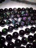 gemas naturais semi preciosas venda por atacado-279 pçs / lote 4mm contas Obsidiana Rodada contas soltas semi-preciosas gemas naturais DIY fazer jóias