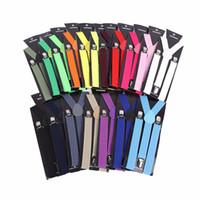 Wholesale Men Suspender Suit - Unisex Adult Men's Suits Candy Color Suspenders Men 3 Clip Buckle Suspenders for Women Belt Strap Adjustable Shirts Braces