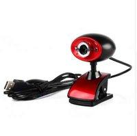 tableta de alta definición al por mayor-Alta definición HD USB 16MP Cámara Web Webcam digital con MIC Micrófono incorporado para PC Ordenador portátil Tablet Negro + Rojo