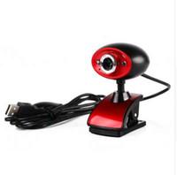 ingrosso tavoletta ad alta definizione-Videocamera Web webcam digitale HD ad alta definizione HD 16MP con microfono incorporato MIC per PC Laptop Tablet nero + rosso