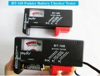 Wholesale BT Pointer display Battery Tester BT168 Universal Button Battery Checker Tester for AA AAA C D V V Checks power level