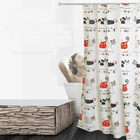 Wholesale cat shower curtains resale online - High Quality Cartoon Cat Waterproof Polyester Shower Curtain Thicker Bath Curtain For The Bathroom Home Decorations cm