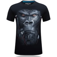 Wholesale 3d t shirt snake resale online - 20 style S XL D T shirt Mens Hot Summer Animal Snake Tiger Wolf Lion Printed T shirts Men Cotton Casual Brand T shirt