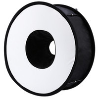 Wholesale Lightdow cm Foldable Ring Speedlite Flash Diffuser Macro Shoot Round Softbox for Canon Nikon Sony Pentax Godox Speedlight